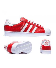 d38c714a769 Adidas Originals Superstar Animal Red and White Sneakers UK Outlet
