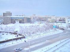 Yakutsk  Siberia...yakutsk (coldest city on earth) enveloped in ice fog