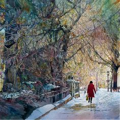 "John Salminen is an award-winning American watercolor painter who is well known for his realistic urban landscapes. His work was described as ""compelling street scenes packed with detail"" by..."