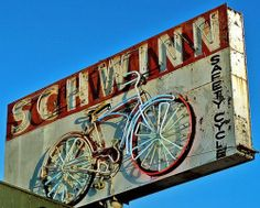Vintage Schwinn Neon Bicycle Sign