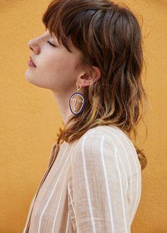 Face earrings   MANGO