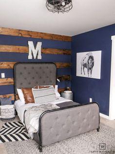Rustic Boys Bedrooms, Navy Blue Bedrooms, Big Boy Bedrooms, Boys Bedroom Decor, Blue Rooms, Bedroom Rustic, Diy Bedroom, Boys Bedroom Paint, Bedroom Modern