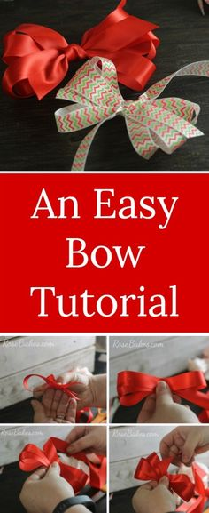 Easy Bow Tutorial |