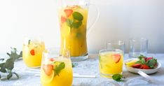 We used to help mum make this every year for our family to drink on Christmas Day. It's great for parties too! Ginger Ale, Colorful Cocktails, Summer Cocktails, Freshly Squeezed Orange Juice, Fresh Lemon Juice, Punch Recipes, Christmas Recipes, Strawberry Tea, Fruit Punch
