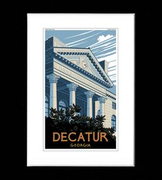 Decatur Print | INACTIVE A-Town Down | ATL Vintage Print | Scoutmob Shoppe | Product Detail