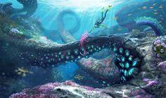 The Blue Age - Rhul-thaun diver  (Subnautica concept art)