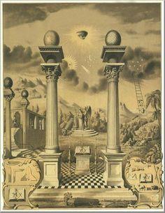 A masonic allegory Occult Symbols, Masonic Symbols, Occult Art, Ancient Symbols, Masonic Art, Masonic Lodge, Illuminati, Masonic Tattoos, Freemason Symbol