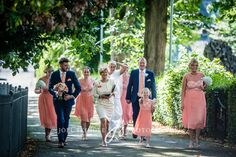 Get me to the church on time! Love this pic of me, my bridesmaids, best man & parents walking up to the church. St Stephen's, Skipton  #northyorkshire  #mikaellabride  Wedding Photography at the Coniston Hotel (97)