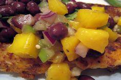 Mango Black Bean Salsa. Photo by yogiclarebear