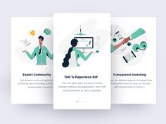 Onboarding Screens designed by Siddhita upare for Brucira. Connect with them on Dribbble; the global community for designers and creative professionals. Mobile Ui Design, App Ui Design, Page Design, Interface Design, Flat Design, User Interface, Splash Screen, Ui Web, Flat Illustration