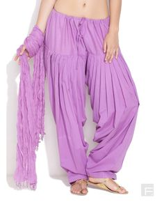 Buy Purple Color Cotton Fabric Patiyala Salwar Online