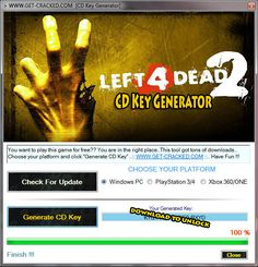 Left 4 Dead 2 Free Steam Code Key Generator 2015