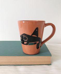 Vintage David Lambert Potteries Ltd SIGNED Mug Vancouver BC Killer Whale   eBay David Lambert, Vancouver, Hand Thrown Pottery, Killer Whales, Handmade Pottery, Pottery Art, Jar, Good Things, Mugs