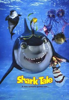 Animation - 100 Years of Movie Posters - 69 Dreamworks Animation, Dreamworks Movies, Animation Series, Shark Tale, Angelina Jolie Movies, The Incredibles 2004, Adventure Movies, Kung Fu Panda, Sharks