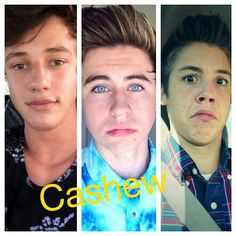 Cameron Dallas, Nash Grier and Matt Espinosa (MagCon Boys) #Cashew