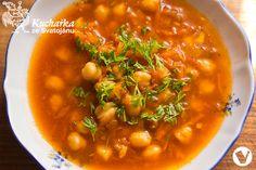 Kuchařka ze Svatojánu: CIZRNOVÁ POLÉVKA S MRKVÍ Chana Masala, Soup, Lunch, Cooking, Ethnic Recipes, Kitchen, Eat Lunch, Soups, Lunches