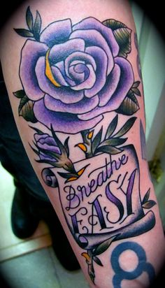 purple rose tattoos for girls