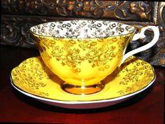 Gold Chintz Yellow Royal Albert Tea Cup and Saucer