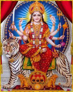 Indian Gods and Goddesses Durga Ji, Durga Goddess, Divine Mother, Mother Goddess, Shiva Art, Hindu Art, Krishna Art, Jai Mata Ki, Maa Durga Image