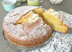 """The """"Cake Glass of Milk"""" is a scrumptious cake, sensible and economical. Quite simple to make, it seems like his cousin the yogurt cake as a result of in c Sweet Recipes, Cake Recipes, Dessert Recipes, Yogurt Cake, Cake & Co, Food Cakes, Easy Desserts, Food Porn, Food And Drink"""