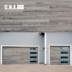 Horizontal grooves lend texture and interest to Planks doors, creating depth and subtle dimension. Order your free color samples today! Black Garage Doors, Garage Door Windows, Wood Garage Doors, Windows And Doors, Black Window Frames, Black Windows, Grey And Beige, Gray, Types Of Insulation