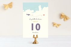 Destination Wedding Table Numbers by Unless Someone Like You at minted.com