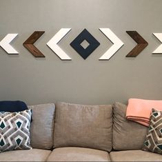 Sarah Gambill added a photo of their purchase Chevron Wall Decor, Wood Wall Decor, Wood Wall Art, Chevron Art, Chevron Walls, Diy Wand, Bar Design, Kitchen Wall Art, Living Room Art