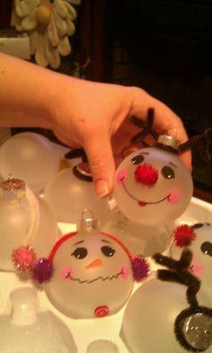 Festive Christmas bulbs