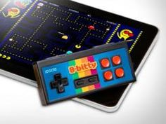 The iCade 8 Bitty  a Bluetooth-enabled gadget designed to work with an iPhone, iPad, iPod touch or Android device. Mobile Game, Cool Gadgets, Electronics Gadgets, Tech Gadgets, Software, Arcade Controller, Mobile Gadgets, Ipod Touch, Retro Arcade