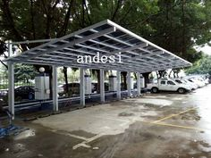 Cantilever Carport With White Frame