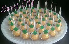 Pineapple cakepops