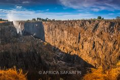 Sometimes its fun to visit the place during the 'low' season. #VictoriaFalls or #Vicfalls are generally dry during the end of November / early December and that is exactly when I visited it especially in the drought condition. Could not see much of 'the smoke that thunders' but the bare cataract of the falls was still jaw dropping. #Zambia #Africa #Safari www.AfricaSafari.IN