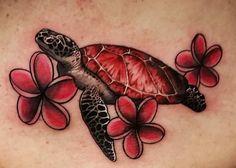 Jen's sea turtle tattoo thanks to Locke Studios in Gettysburg PA.