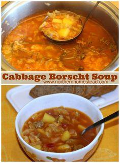 Cabbage Borscht Soup Recipe