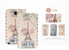 VINTAGE TRAVEL PARIS LONDON NEW YORK BOOK DIARY PHONE CASE FOR GALAXY NOTE 3