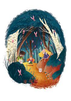 """Şu @Behance projesine göz atın: """"Forest"""" https://www.behance.net/gallery/57368499/Forest"""