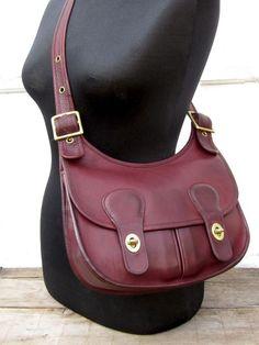 Vintage Coach Pony Express Saddle Bag in Oxblood Leather Rare Bonnie Cashin  NYC  30f77eb21b280