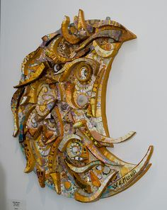 Giulio Menossi's Luna  by Contemporary Mosaic Art, via Flickr