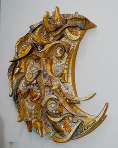 Giulio Menossis Luna  by Contemporary Mosaic Art, via Flickr