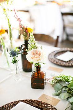 Medicine bottle floral vessels