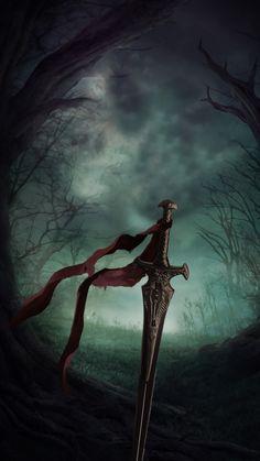 Fantasy, sword, artwork, 720x1280 wallpaper