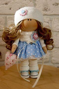Nursery doll Soft doll Art doll Fabric doll Handmade doll