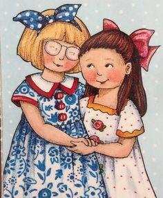 Always Best Friends!-Large Mary Engelbreit Artwork Magnet