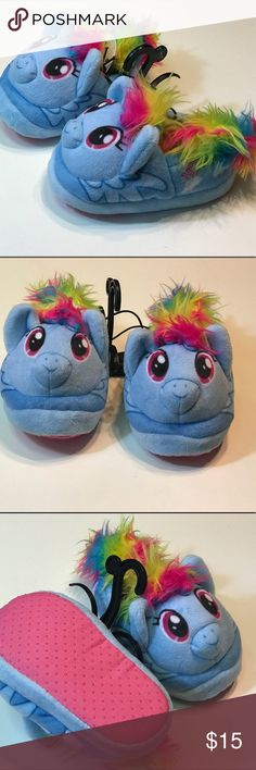 My Little Pony Toddler Slippers Rainbow Dash S 5-6 Super soft and adorable toddler girls slippers size small 5-6! New with tag! Shoes Slippers