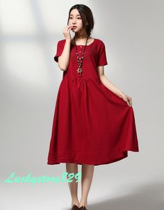 women's flax/linen/Cotton and linen Loose Fitting Soft for Women Clothing / Summer dress/ flax dress /coat 6828 Summer Outfits Women, Summer Dresses, Theatre Design, Coat Dress, Short Sleeve Dresses, Clothes For Women, Clothing, Cotton, Inspiration