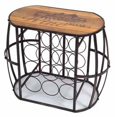 Buy Barrel Cask Wine Rack from the Wine Related Home Decor Collection from Melrose International. - LadybugJunction.com : FREE Shipping Over $75.