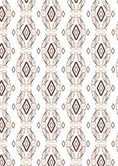 """New Caledonia Lt std, William A. Dwiggins, 1938. Pattern 2 (bn):""""elegante"""":◊,g,∫ di New Caledonia Lt std Semibold Italic: ho scelto dei colori come il rosa e il marroncino che richiamano uno stile elegante ma anche antico.  L'accostamento dei glifi e della lettera g ha permesso di creare un pattern elegante ma allo stesso tempo semplice."""