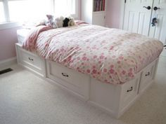 Twin-size Storage Bed | Do It Yourself Home Projects from Ana White