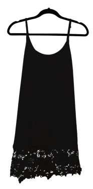Black Cami Tank top Lace Sweater Extender
