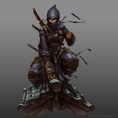 by operion Paizo female thief ninja assassin fighter rogue armor clothes… Character Concept, Character Art, Concept Art, Character Design, Arte Ninja, Ninja Art, Dnd Characters, Fantasy Characters, Fantasy Warrior